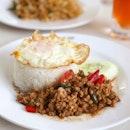 Kra Pow Set ($7) + Fried Egg ($1)