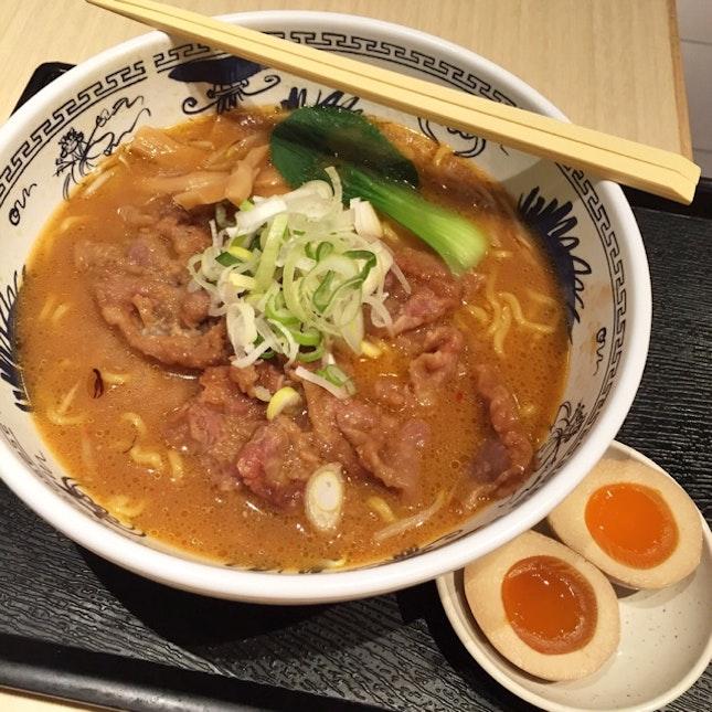 Pork Ramen in Red Miso ($17.80++)