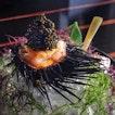 Marinated Botan Shrimp with Sea Urchin and Oscietria Caviar