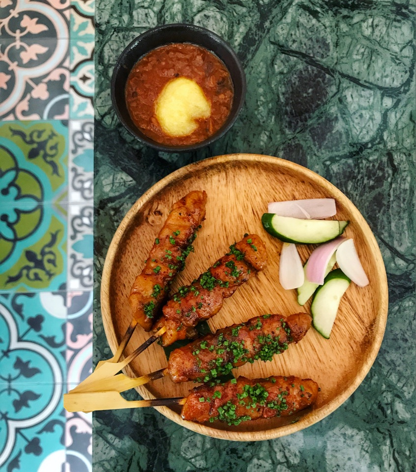 Charcoal Grilled Local Chicken Satay ($16++)
