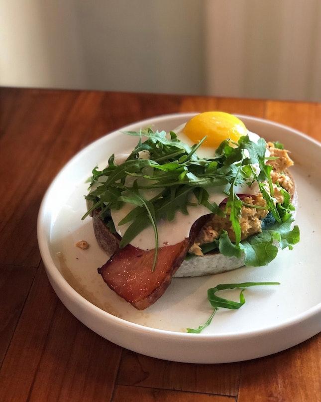 Bacon & Crab Toast ($25++)