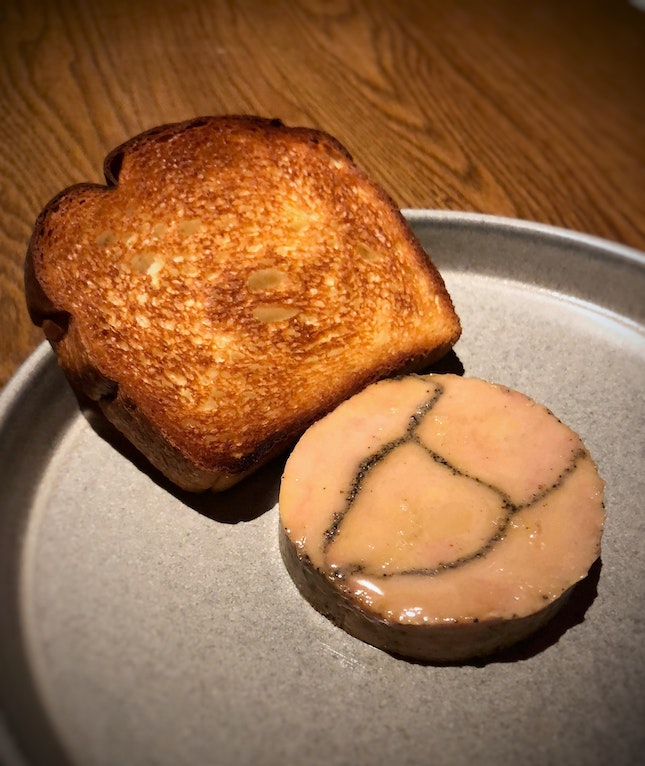 Foie Gras Torchon (One of the choices in the 3-course: $95++ / 5-course: $120++ / Chefs Tasting Menu: $160++)