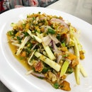 Spicy Crab Egg Salad (Price: 140 Thai Baht / about SGD 6)