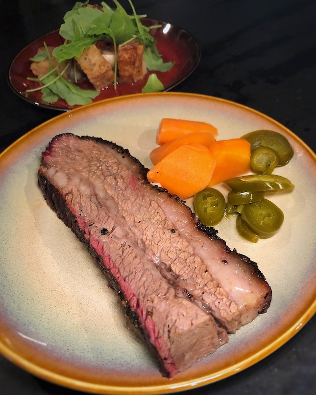 The Smoked Beef Brisket In Their NEW $38++ Set Menu Is Life-Changing