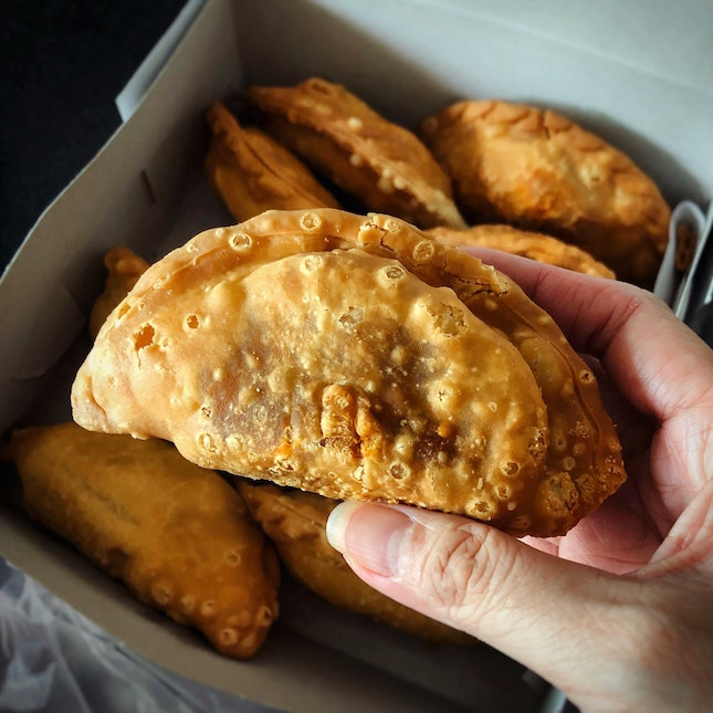 Traditional-Style Curry Chicken And Egg Puff ($1.50)