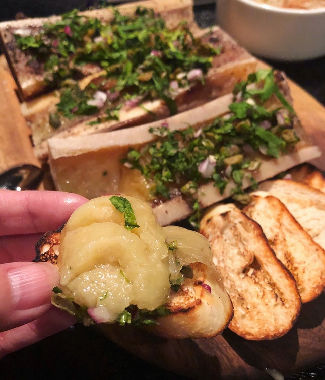 Roasted Bone Marrow ($25++)