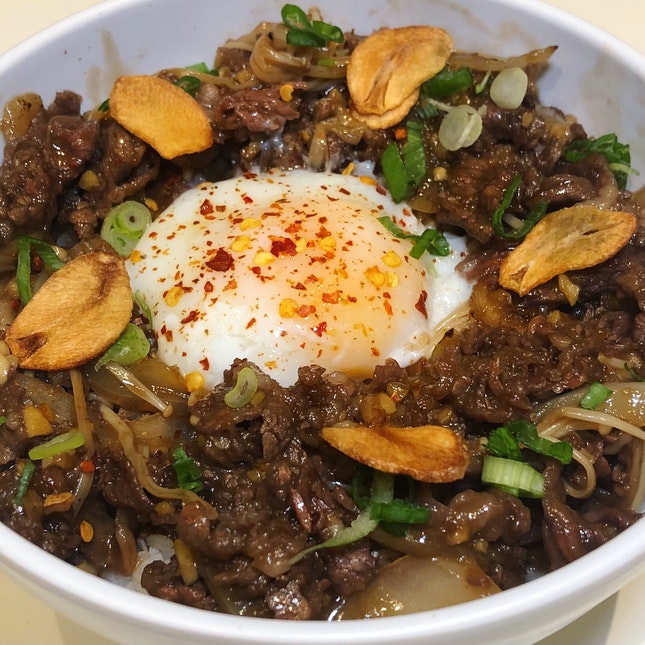 This Was A Really Tasty Beef Rice Bowl!