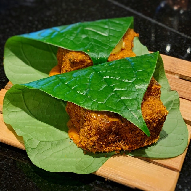 Fantastic Crispy Pork With Sambal Aioli In Betel Leaf ($14++)