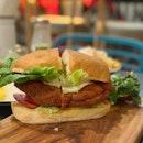 Chicken Schnitzel Sandwich ($22++)