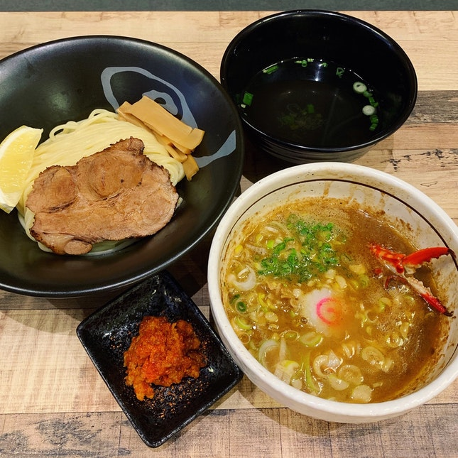 Exclusive To The Clarke Quay Outlet: The Swimmer Crab Tsukemen ($17.80++)