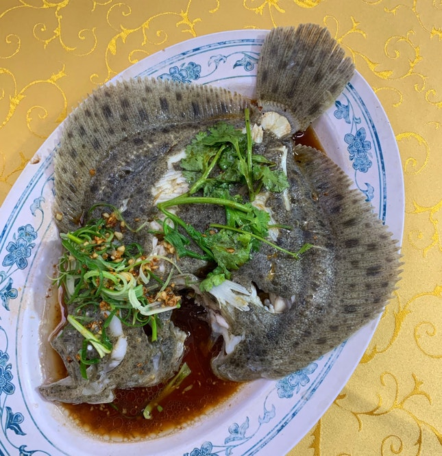 Freshly Steamed Turbot ($12 for every 100gms)