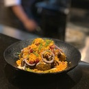 Baby Potato Chaat with Tamarind and Yogurt Dressing ($18++)