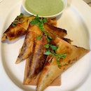 Spiced Chicken Samosas (Price: $20++ for 4 large pieces)