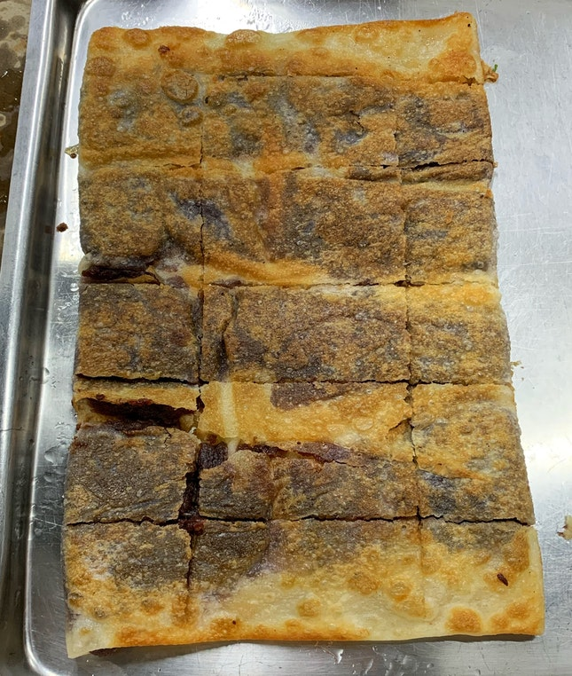 Red Bean Prata - What A Great Snack This Makes.