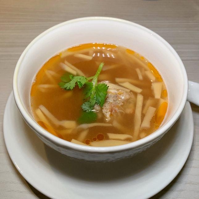 Very Tasty Bakwan Kepiting Soup (Part Of The Tasting Menu: $88++ per pax)
