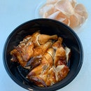 Roasted Chicken With Prawn Crackers