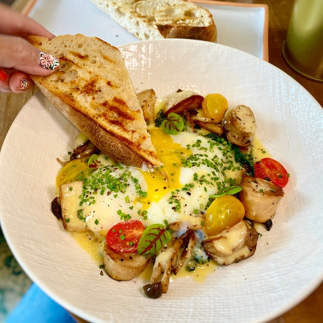 Eggs Benjamin ($21++) - The Elevated Poached Eggs You Didn't Know You Need.