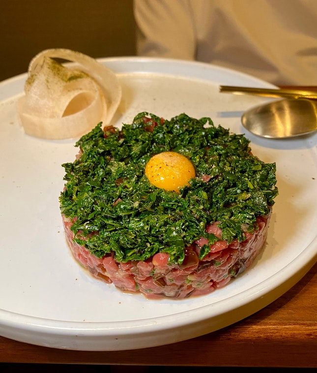 Delectable Yuk Hoe or Beef Tartare ($28)
