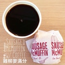yesterday's #breakfast #mcmuffin #coffee #mcd