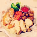 #Scallop #Fish #Chicken platter for #dinner