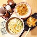 Tsurokoshi's Kake Kakiage Udon ($9.50) & Kakiage Tendon ($10.50) for yesterday's #dinner.