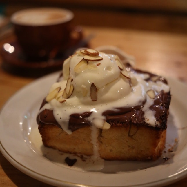 Hazenut Honey Toast.