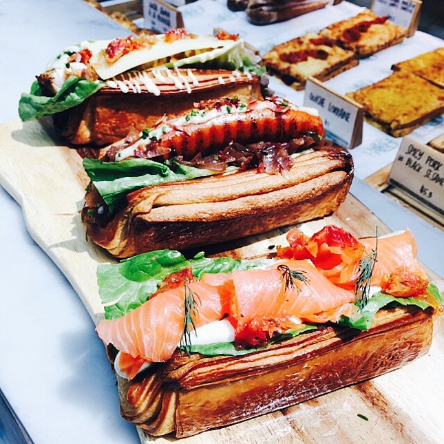 Savory Croissant ~ #vsco #vscocam #foodporn #foodpics #cafehoppingsg #burpple