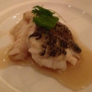 20120129 Steamed marble goby soon hock w superior soy sauce.