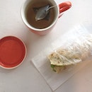 20140804 Made tuna wrap for breakfast this morning and had it with my morning boost!