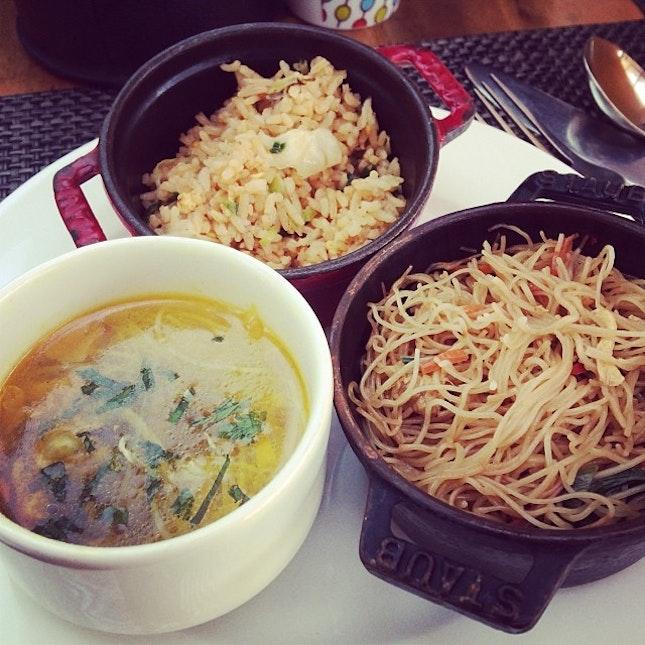 It's an Asian breakfast type of day!