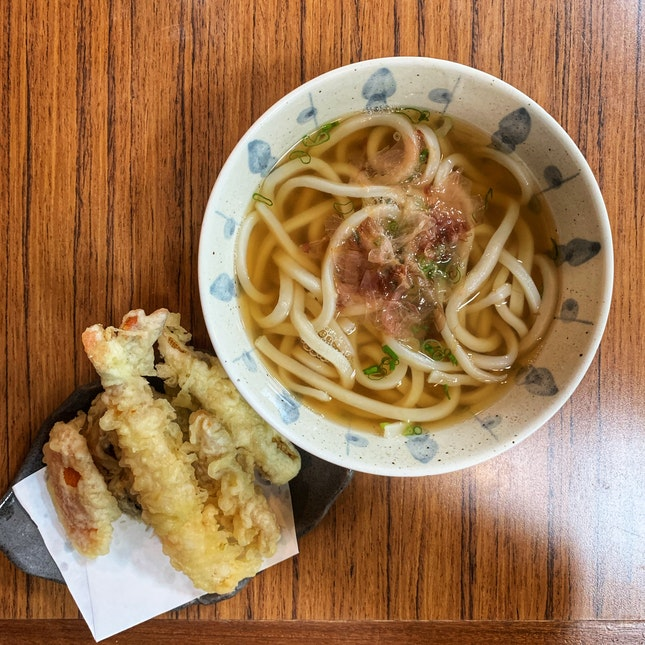 Tempura Udon (hot) ($20++)