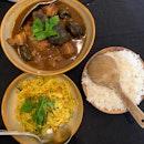 Keluak Curry ($20.80) and Turmeric Cabbage ($7.80)