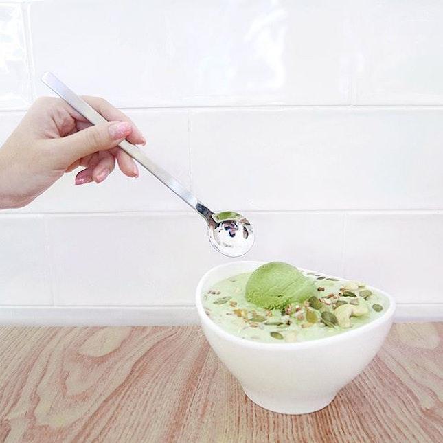 Green Tea Bingsoo •SGD $17.20 / $21.20•  The Korean craze is still going on strong in Singapore!