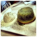 This green tea fondant cake was awesome and totally worth the 30-minute wait!