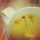 Chamomile floating in the #tea of its own, just like me drifting in a sea of people.