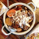 Andong stews are made for drizzling over rice but we were low carb so we had this neat.