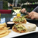 Chicken Fajita Rollup served with mexi-ranch sauce and fries ($12.90) #rachfoodadventure #burpple #igsg #sgfood #sgfoodie