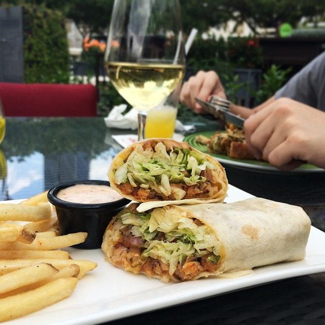 Chicken Fajita Rollup served with mexi-ranch sauce and fries ($12.90) #rachfoodadventure #burpple #igsg #sgfood #sgfoodie