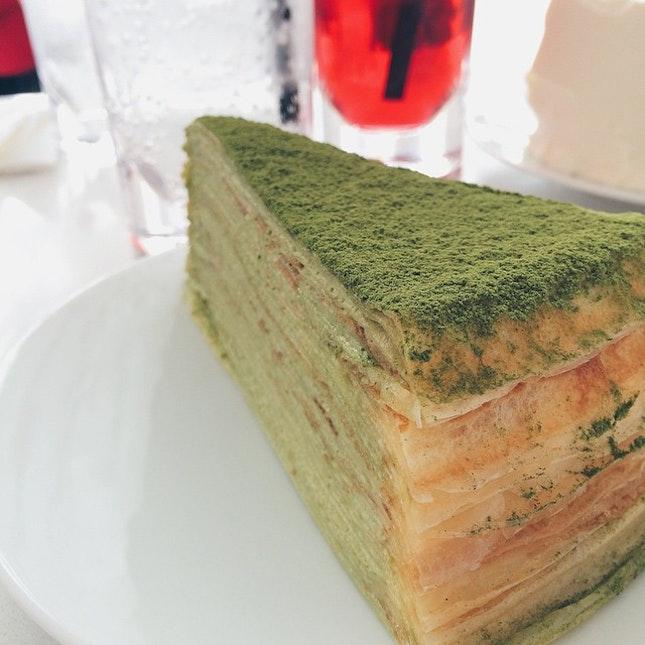 Green tea matcha crepe.