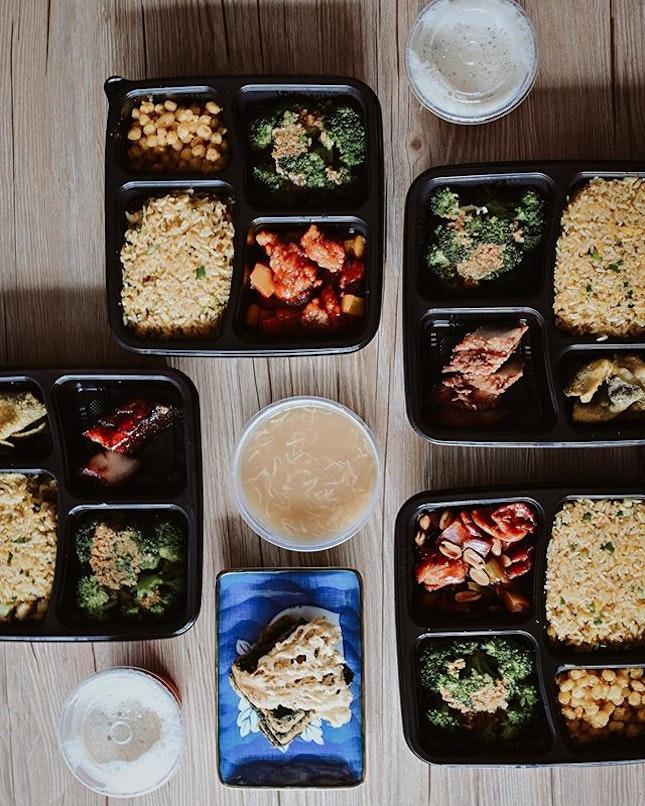 Settled our lunch bento set from @fulloflucksg.