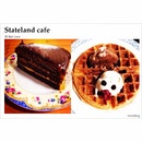 Salted Caramel Chocolate Cake & Classic Waffle with Honey Yogurt & Chocolate ice cream....
