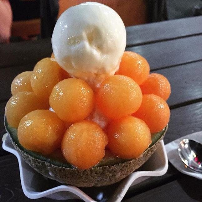 Melon bingsu.