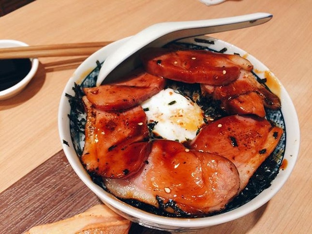 the more people we have at dinner, the more food we can order to try - glazed duck with onsen tamago don 🍚🍳🍱 #glazedduck #japanesefood #burpple #sushiro #foodie #foodiesg #foodstagram #japanesefood #sgfoodie
