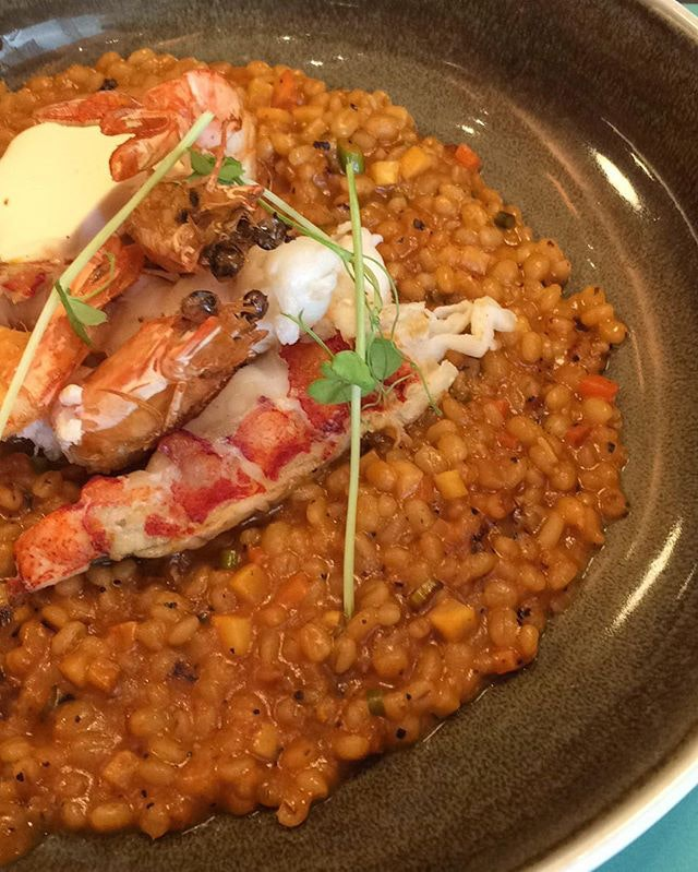 lobster barley risotto for lunch at @themarmaladepantry was soooo good plus it tasted even yummier cos it was a treat!
