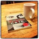 Time to relax.. read a #book ... sip some #coffee :) #singapore #5footwayinnprojectchinatown1 #kafka #franzkafka #metamorphosis