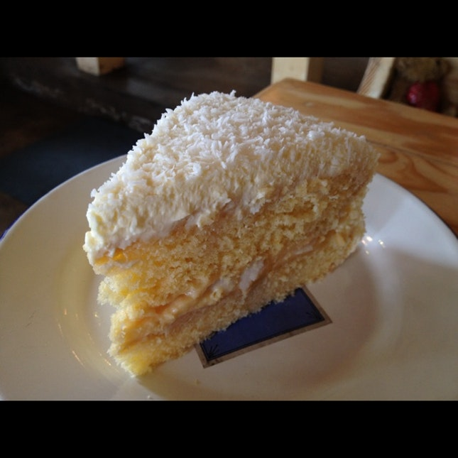 Coconut cake. Love this!