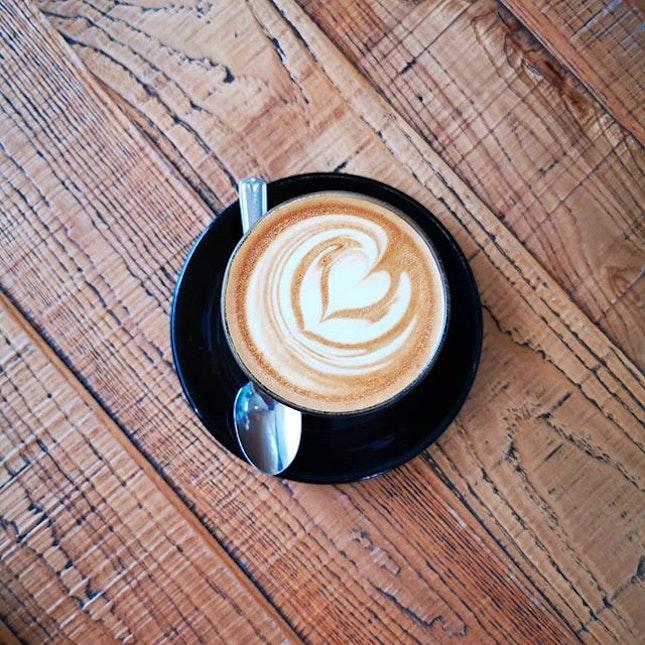 A nice warm avro and a nice warm Caffè Lattè.