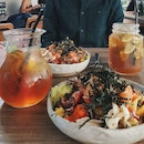 Poke Bowl & Iced Tea