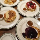 Banana Walnut, Blueberry & Raspberry Dark Chocolate Pancakes