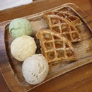 Triple Scoop with Waffles